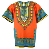 Orange Plus Size African Dashiki Shirt Tops