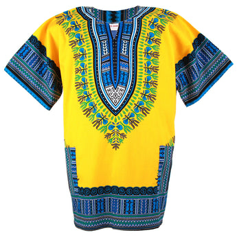 Yellow Plus Size African Dashiki Shirt