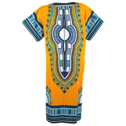 Yellow African Dashiki Long Dress