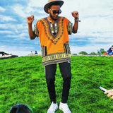 Orange African Dashiki Shirt Wear Style