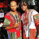 Red African Dashiki Shirt Fashion Style