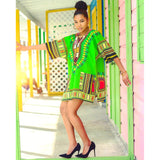 Lime Green African Dashiki Shirt Sales Shop