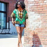 Green African Dashiki Shirt Wear