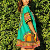 Green African Dashiki Shirt Fashion Clothes