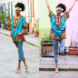 Light Blue African Dashiki Shirt Wear