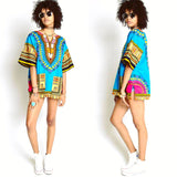Light Blue African Dashiki Shirt Cheap Price