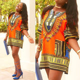 Orange Lady African Dashiki Shirt