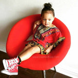 Red Toddler Kids African Dashiki Shirt