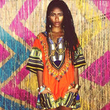 Orange Nigerian African Dashiki Shirt