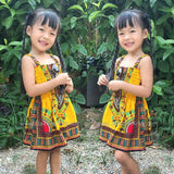 Yellow Toddler Kids Baby African Dashiki Dress Cheap Price