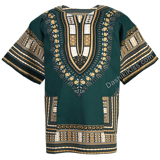 Jade Green Plus Size African Dashiki Shirt