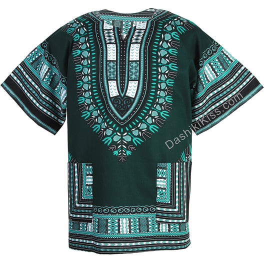 Dark Green African Dashiki Shirt