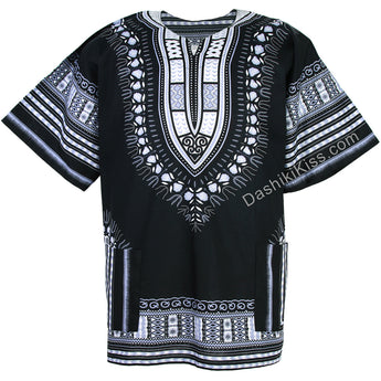 Black Plus Size African Dashiki Shirt