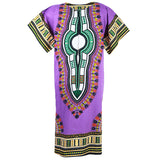 Purple African Dashiki Long Dress