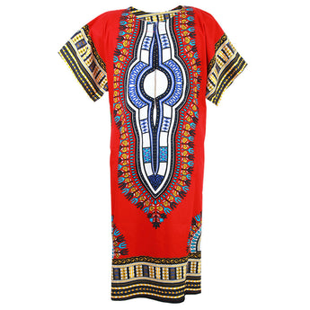 Red African Dashiki Long Dress