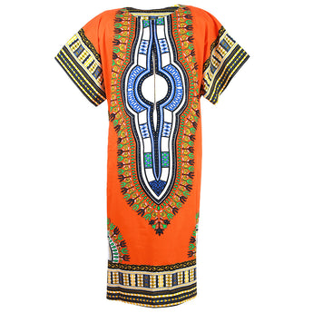 Orange African Dashiki Long Dress