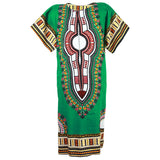 Green African Dashiki Long Dress