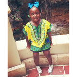 Light Yellow Toddler Kids African Dashiki Shirt