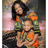 Orange Toddler Kids African Dashiki Shirt