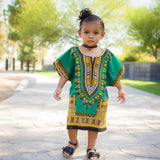 Green Toddler Kids African Dashiki Shirt