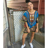 Blue African Dashiki Shirt