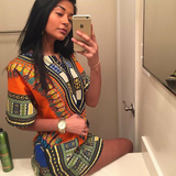 Orange African Dashiki Fashion Shirt