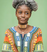 Orange Ghana African Dashiki Shirt