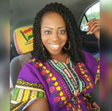 Purple Womens African Dashiki Shirt