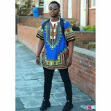 Blue African Dashiki Shirt Store