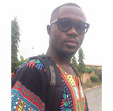Black and Red Men African Dashiki Shirt