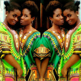 Lime Lady African Dashiki Shirt