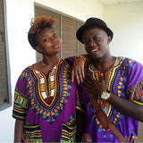 Purple Nigerian African Dashiki Shirt