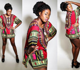 Burgundy African Dashiki Shirt Fashion