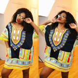 Black and Yellow Colorful African Dashiki Shirt