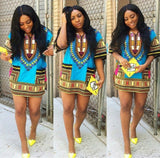 Light Blue African Dashiki Shirt Shop