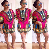 Pink African Dashiki Shirt Clothes