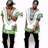 White and Green African Dashiki Shirt