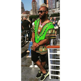 Lime Nigerian African Dashiki Shirt Wear