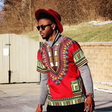 Red Nigerian African Dashiki Shirt
