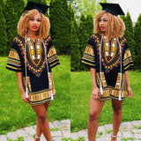 Black and Yellow Women African Dashiki Tops Wear