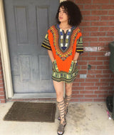 Orange African Dashiki Shirt Shop