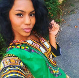 Green Lady African Dashiki Shirt