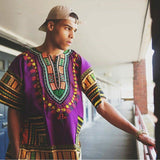 Purple African Dashiki Shirt