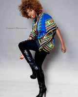 Blue African Dashiki Shirt Fashion