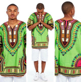 Lime Mens African Dashiki Shirt