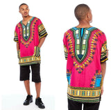 Pink African Dashiki Shirt Mens Fashion