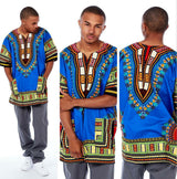 Blue African Mens Dashiki Shirt