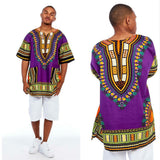 Purple African Dashiki Shirt for Mens