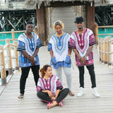 White and Blue Nigerian African Dashiki Shirt Sales Online Shop