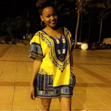 Light Yellow Mens African Dashiki Style